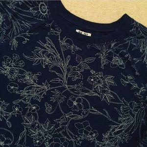 Old Navy Women's Blue Wildflower Sweatshirt